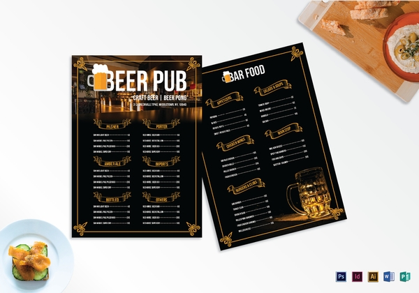 pub menu template3