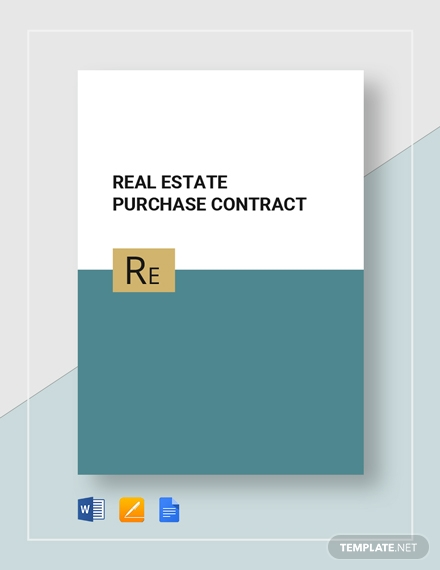 purchase real estate contract template