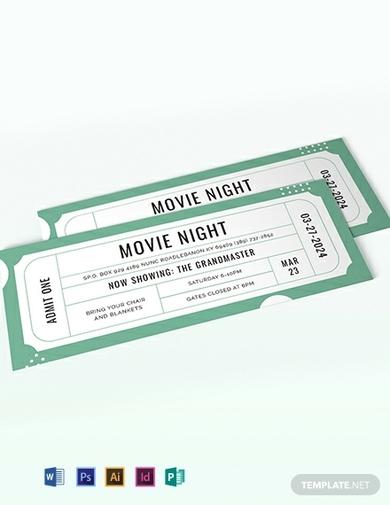raffle movie ticket