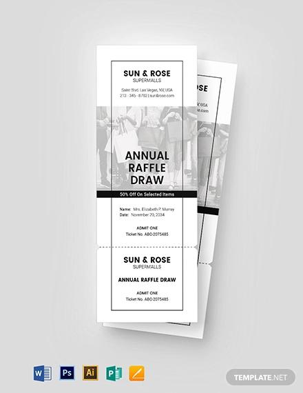 raffle sale ticket template