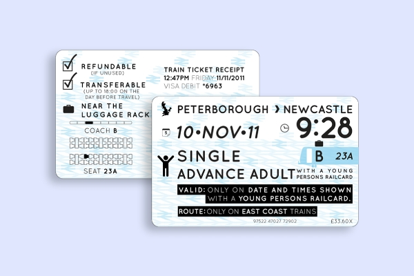 rail train ticket