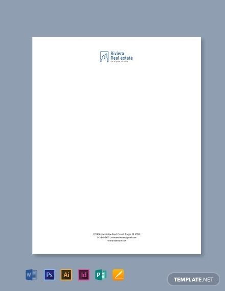 real estate agency letterhead template