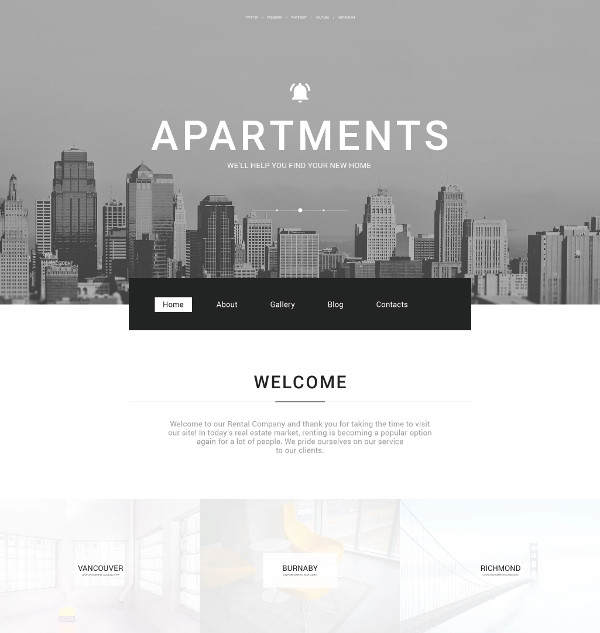 real estate agency responsive website design