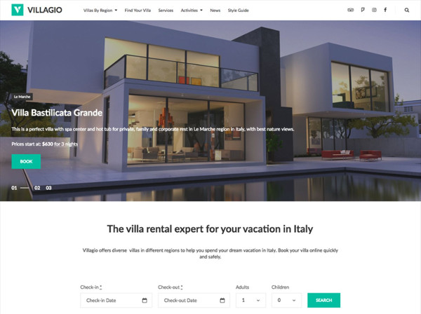 real estate agency website wordpress template