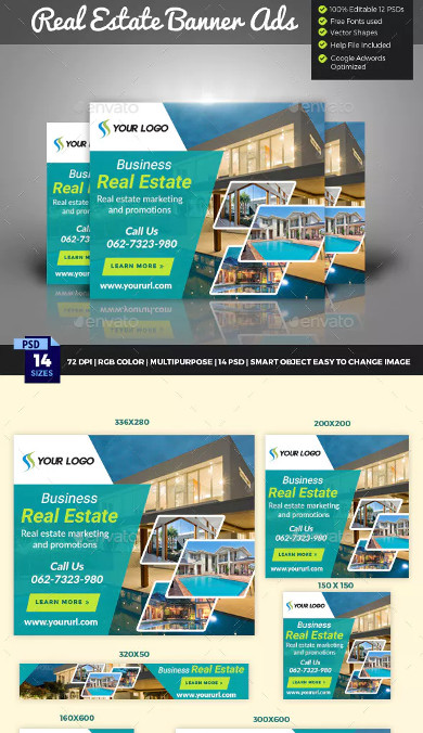 real estate banners for social media