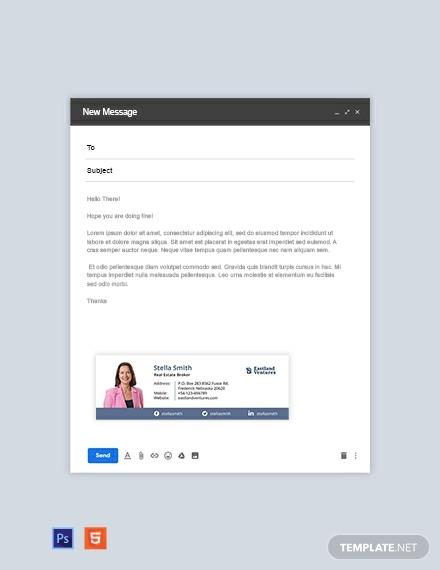 real estate broker email signature