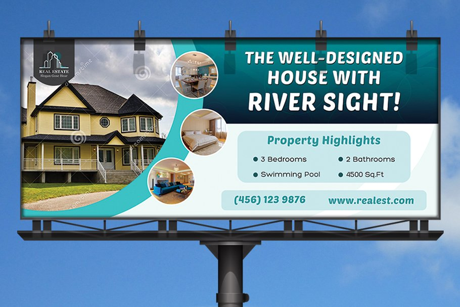 real estate business billboard example