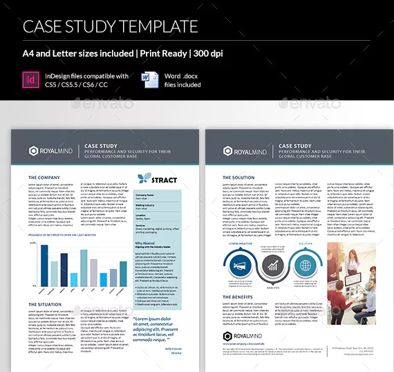 real estate case study template with graph