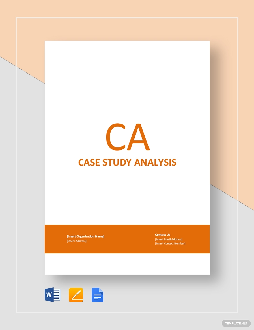 real estate case study template for analysis
