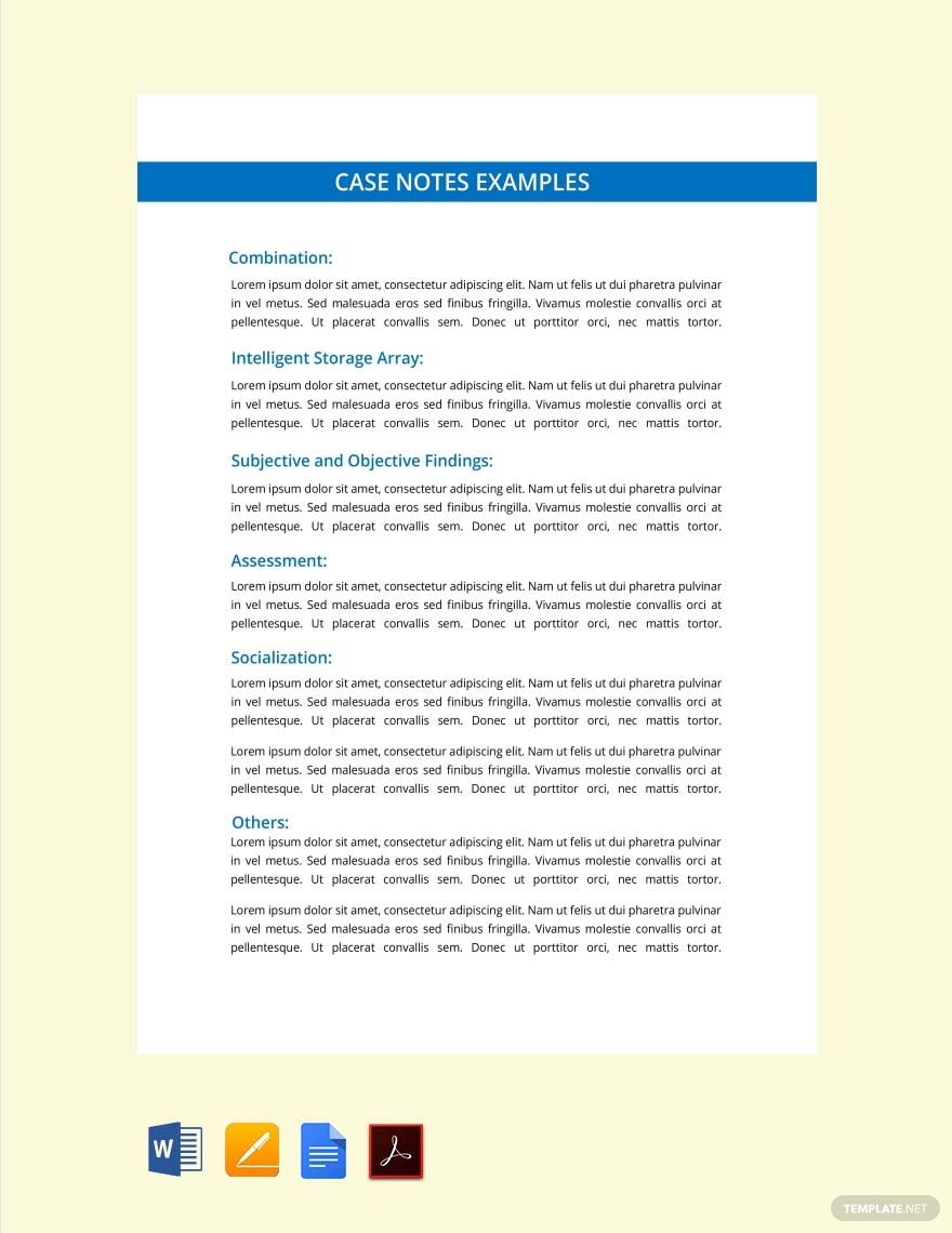 real estate case study template for notes
