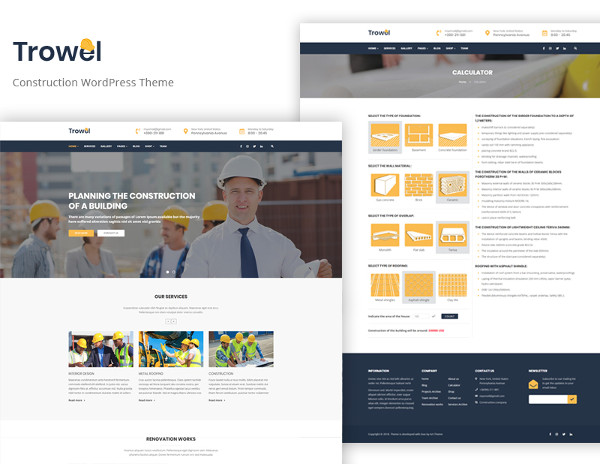 real estate construction business website template