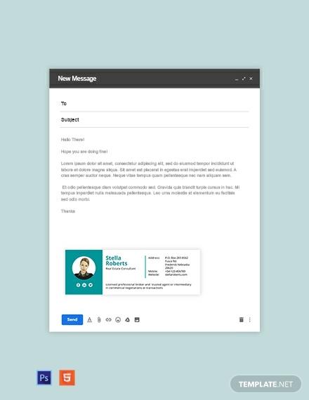 real estate consultant email signature