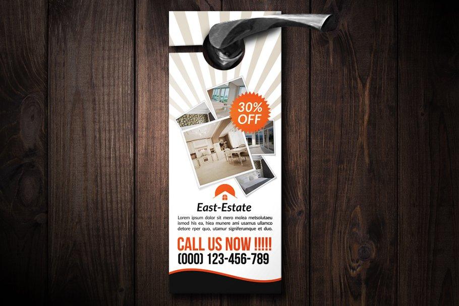 real estate door hanger design