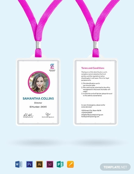 real estate event planner id card template