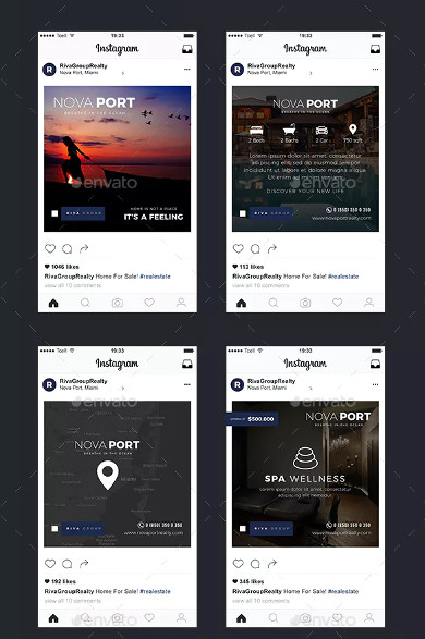 real estate instagram banner template