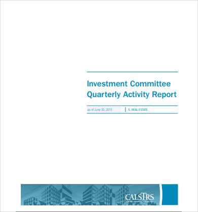 real estate investment committee activity report