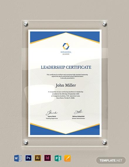 real estate leadership certificate template