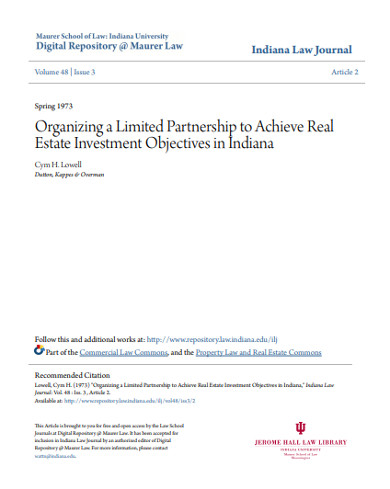 real estate partnership agreement