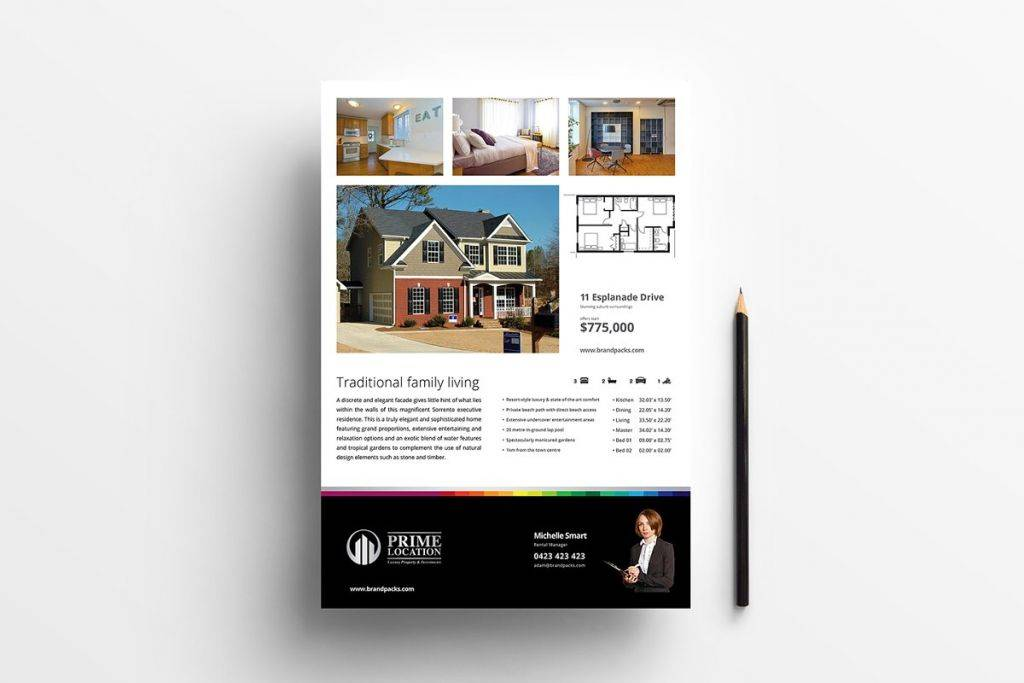 real estate poster psd and illustrator template 1024x683