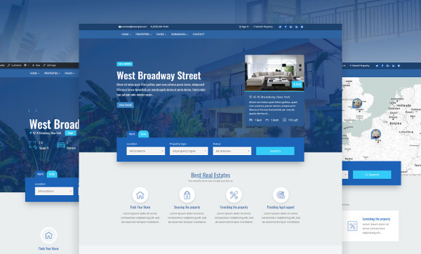 real estate premium wordpress website template