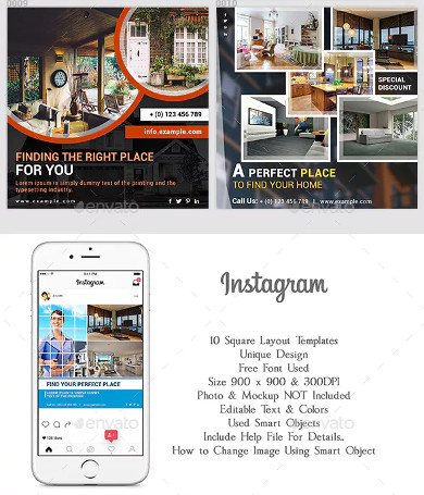 real estate promotional instagram pack sample
