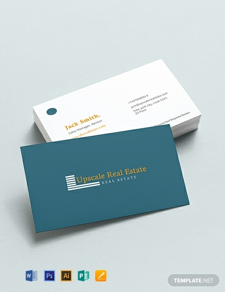 real estate property business card