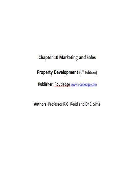 real estate property development sales and marketing