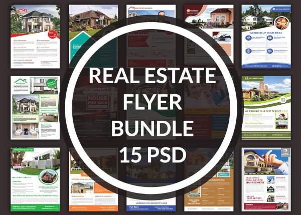 real estate rental 15 flyer bundle