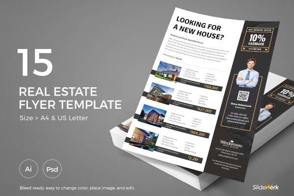 real estate rental flyer design