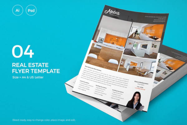 real estate rental flyer example