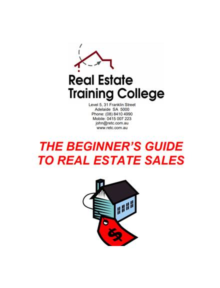real estate sales guide for beginners
