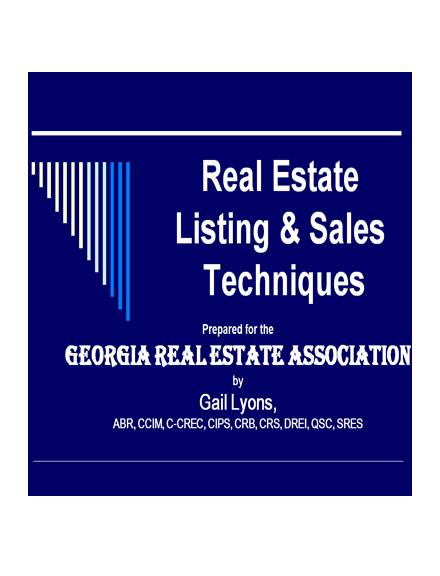 real estate sales strategy example