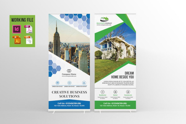 real estate and corporate roll up banner template