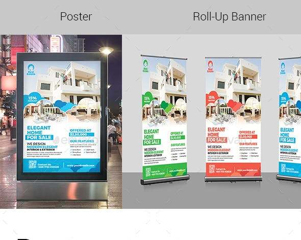 real estate and rollup banner