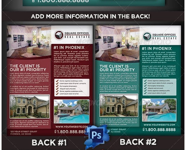 realtor services postcard template