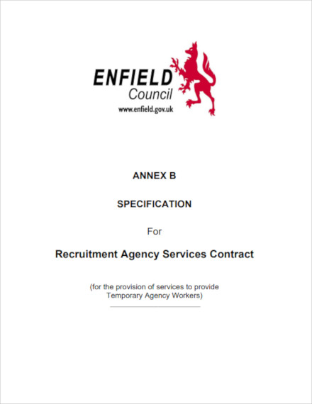 recruitment agency services contract
