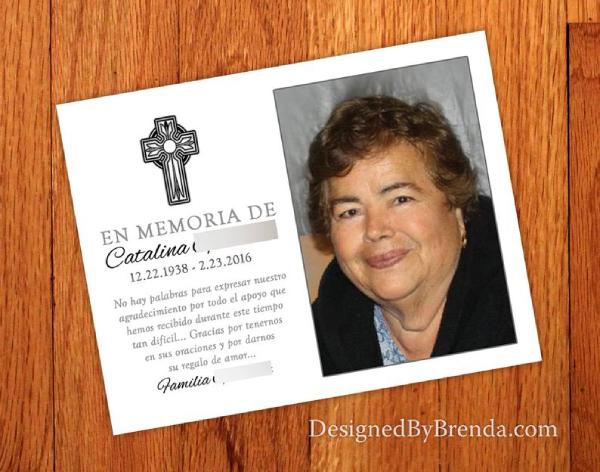 religious funeral postcard