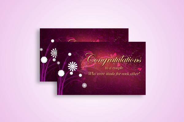 remarkable wedding congratulations card