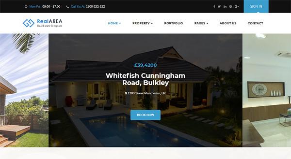 rental property website wordpress template