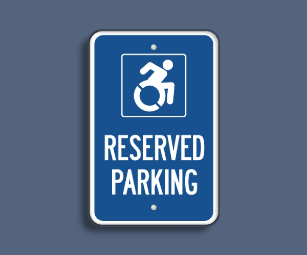 reserved parking for people with disabilities