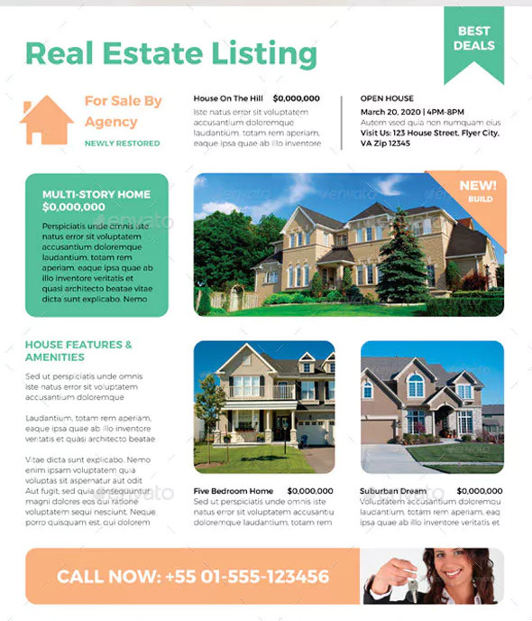 residential business real estate ad flyer sample
