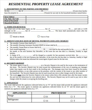 residential property rental