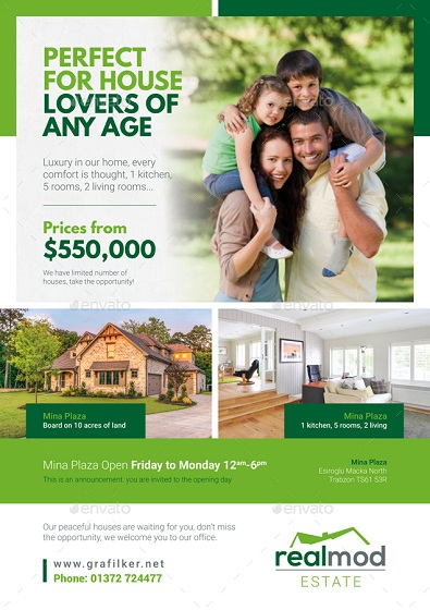 residential real estate bundle flyer templates