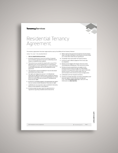residential tenancy tenant lease agreement