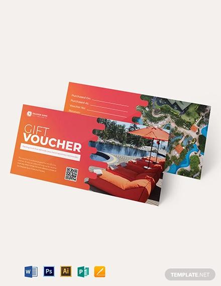 resort hotel voucher template