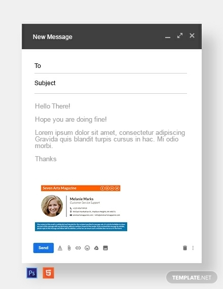responsive email signature for real estate business