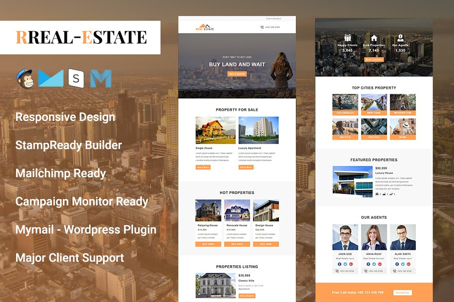 responsive real estate email marketing template