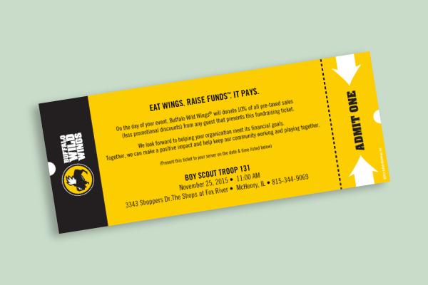 restaurant admit one ticket