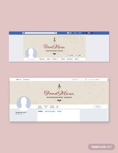 restaurant christmas facebook and twitter cover page
