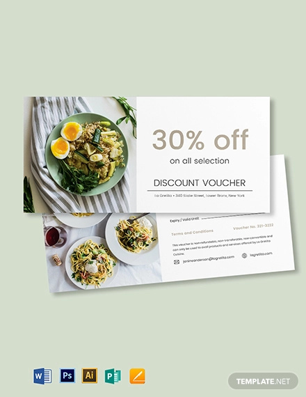 restaurant gift voucher card template
